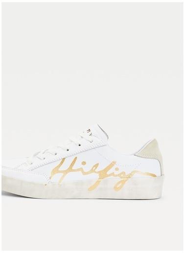 Tommy Hilfiger Tommy Hilfiger Kadın Beyaz Sneaker Beyaz